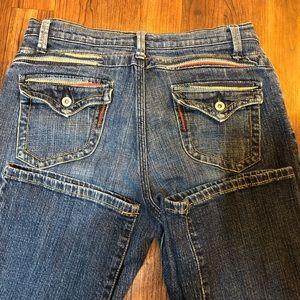 0001 Lena Jeans 4p cute stitching detail 27 length